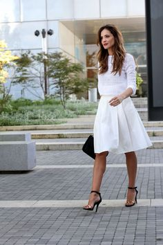total white look with Clarks