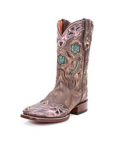 Dan Post Women's Pointed Arrow Boot - Brown/Pink