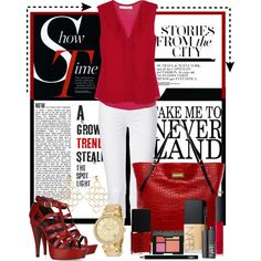 """""""Lady in Red!"""" by goldieazcmd on Polyvore"""