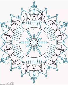 Crochet Snowflake Pattern, Crochet Stars, Crochet Snowflakes, Crochet Mandala, Thread Crochet, Crochet Motif, Crochet Doilies, Crochet Flowers, Crochet Stitches