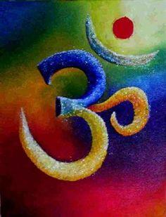 Om for Omnipotence. Ganesha Painting, Buddha Painting, Ganesha Art, Arte Shiva, Shiva Art, Psychedelic Art, Om Art, Spiritual Pictures, Spiritual Symbols