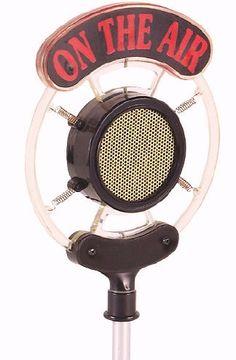 vintage radio microphone - Google Search