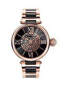 Thomas Sabo Karma Black Dial Rose Detail Bracelet Ladies Watch **plus free diamond Bracelet**, http://www.very.co.uk/thomas-sabo-karma-black-dial-rose-detail-bracelet-ladies-watchnbspplus-free-diamond-bracelet/1600111739.prd