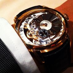 "Wearing an Audemars Piguet Millenary 4101 in rose gold ""Like a Gentleman"""
