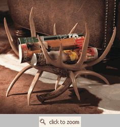 Go to Black Forest Decor right now and enjoy markdowns up to on rustic magazine racks, which includes this Antler Magazine Rack! Western Decor, Country Decor, Rustic Decor, Country Living, Equestrian Decor, Woodland Decor, Country Crafts, Western Style, Rustic Wood