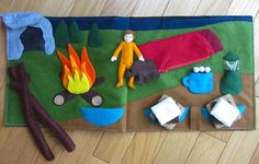 Camping Quiet Book Page