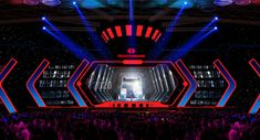 Techcombank Futuristic on Behance Stage Lighting Design, Stage Design, Set Design, Booth Design, Hanoi, Futuristic, Darth Vader, Behance, Scene