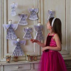 Réaliser des anges en papier pour Noël