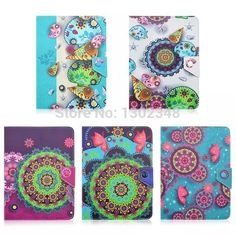 """High Quality Pretty Conch & Flower Print Durable 10 inch Universal Folio Fold PU Leather Cover Case For 10"""" IOS Android Tablet #Affiliate"""
