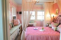 Girls fairy bedroom inspired interior design by Genchi Interior Design group, a Newport Beach, Ca based interior design firm serving clients all throughout Orange County Ca.