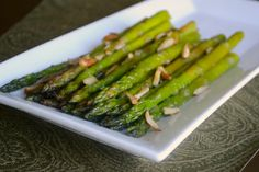 Asparagus with Lemon and Toasted Almonds