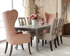 Dining Room - These chairs have similar fabric to mine