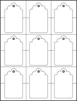 graphic about Free Printable Blank Gift Tags called tag template (term and pdf formats readily available) Templates