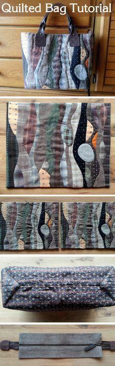 Patchwork bag, pattern - quilt.  Стеганая сумка - http://www.handmadiya.com/2015/08/patchwork-bag-pattern-quilt.html