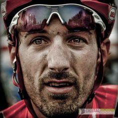 Fabian Cancellara, after his 2010 Tour of Flanders win.  Ah, Spartacus!