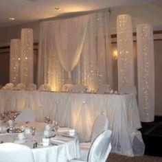 Head Table Wedding Backdrop x Swag x Tall Head Table Wedding, Wedding Reception, Wedding Columns, Reception Decorations, Event Decor, Reception Backdrop, Wedding Centerpieces, Image Swagg, Head Tables