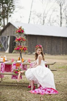 What happens when you combine red hot kisses with a rustic barnyard setting? A Valentine's Day bridal sh Chic Wedding, Spring Wedding, Floral Wedding, Rustic Wedding, Wedding Gowns, Wedding Flowers, Dream Wedding, Wedding Cake, Cake Bouquet
