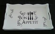 Arte lá em casa: Bandeja Retangular Média - Bon Appetit