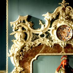 Detail of a chimneypiece inside the Chinese Room at Claydon House, Buckinghamshire, with carved wood and plaster decoration by Luke Lightfoot, ©NTPL/Andreas von Einsiedel Chinoiserie Chic, Rococo Style, The V&a, Oui Oui, Western Art, Architecture Details, Wood Carving, Art Decor, Interior Decorating