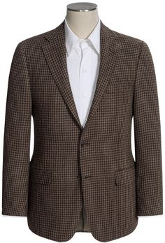 $549, Brown Plaid Wool Blazer: Hickey Freeman Glen Plaid Sport Coat. Sold by Sierra Trading Post. Click for more info: https://lookastic.com/men/shop_items/307227/redirect