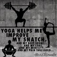 Yoga is good for you and your snatch. Deep Squat, Help Me, Squats, Crossfit, Yoga, Fitness, Movie Posters, Gymnastics, Squat