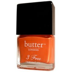 Butter London 3 Free Lacquer - Jaffa ($19) ❤ liked on Polyvore