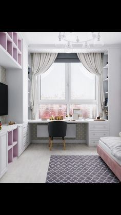 Herkese merhaba🌸 Çocuk odasi dekoruyla alakali fikir istiyordunuz😊 Kiz ç. Small Room Bedroom, Home Decor Bedroom, Study Room Decor, Girl Bedroom Designs, Kids Room Design, Aesthetic Rooms, Dream Rooms, My New Room, Girl Room