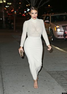 Kim Kardashian, all white