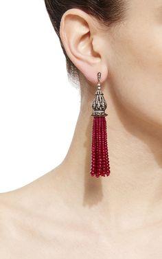 Indo Russian Tassel Earrings by SANJAY KASLIWAL for Preorder on Moda Operandi Tassel Earrings, Drop Earrings, Russian Jewelry, Classy And Fabulous, Jewellery, Jewels, Accessories, Women, Style