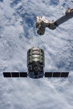 Orbital Sciences' Cygnus cargo craft as it approaches the International Space Station.