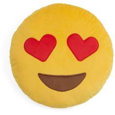 Throwboy Hearts Emoji Decorative Pillow, Diameter Home - Home Decor - Decorative Pillows & Throws - Bloomingdale's Yellow Throw Pillows, Toss Pillows, Accent Pillows, Yellow Home Accessories, Yellow Home Decor, Cute Posts, Girl Life Hacks, Cute Outfits For Kids, Decorative Pillows