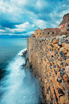 Greece Travel Inspiration - my hometown . Heraklion, Albania, Places To Travel, Places To See, Travel Destinations, Places Around The World, Around The Worlds, Monemvasia Greece, Montenegro