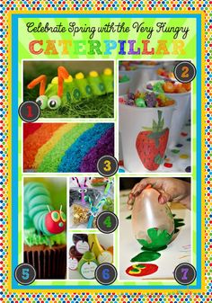 Celebrate Spring with the Very Hungry Caterpillar great ideas for the classroom from simply sprout simpli sprout, rainbows, sprouts, celebr spring, hungry caterpillar, rainbow rice, eric carl, kid craft, hungri caterpillar