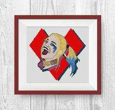 BUY 2, GET 1 FREE! Harley Quinn cross stitch pattern, suicide squad cross stitch pattern, modern cross stitch pattern, pdf counted, P221 by NataliNeedlework on Etsy