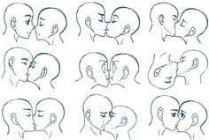 Anime kiss tutorial art reference the kiss anime couple drawing tutorial Drawing Reference Poses, Drawing Skills, Drawing Techniques, Drawing Tips, Drawing Sketches, Art Drawings, Kissing Reference, Drawing Ideas, Sketching