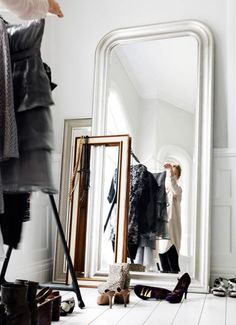 Layered Mirrors In A Dressing Room | Ashley Williams Design | House & Home