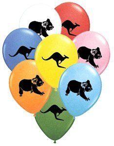 Aussie Balloons Colourful Collection (Pack of by Australian Products Co… Australian Party, Australian Animals, Australian Food, Animal Themed Birthday Party, Animal Party, 50th Party, 4th Birthday Parties, Birthday Ideas, Balloon Animals