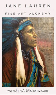Chieftan | Original Oil Painting by Jane Lauren | www.FineArtAlchemy.com