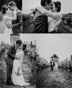 Romantic bride and groom portraits in a vineyard in France by Wild Connections Photography French Wedding, Destination Weddings, Vineyard, Groom, Wedding Inspiration, Europe, Portraits, Romantic, France