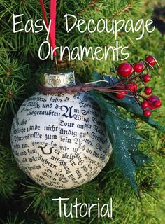 This and That Handmade: Easy Decoupage Ornaments