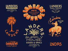 Vintage Graphic Design Landers Supply House custom type speed shop print brand design branding moto typography type - Branding for my friends in Costa Mesa, CA - Landers Supply House - open for business so if you're in the LA area check them out! Typography Logo, Graphic Design Typography, Logo Branding, Branding Design, Lettering, Artist Branding, Corporate Design, Brochure Design, Vintage Graphic Design
