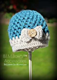 Crochet Girl's Hat Crochet Hats for Girls by BIMaccessories, $20.00