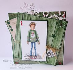 LOTV - Oliver Christmas Jumper by Jacqui Dennis Stamped Christmas Cards, Handmade Christmas, Christmas In July, Christmas Ideas, Christmas Jumpers, Lily Of The Valley, Digi Stamps, Cardmaking, Cats