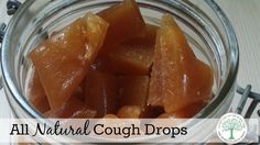 Spring colds and coughs can be rough. These easy to make, all natural, cough drops can soothe your throat and ease the cough.