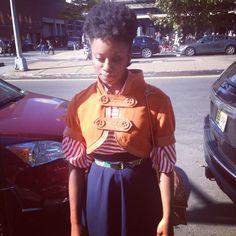 Tamisha of LookBookNYC with Fashion Entrepreneur/ Blogger Justin Bridges of Tucked Style