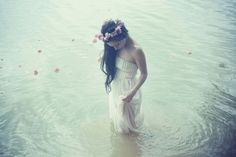 gorgeous. and of course, who wouldn't walk into a lake in their wedding dress?