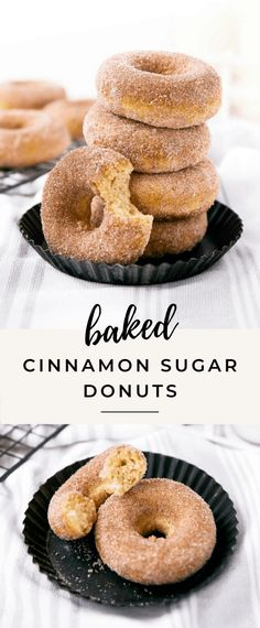 These baked cinnamon sugar donuts are seriously delicious! Baked Donut Recipes, Baked Doughnuts, Baking Recipes, Dessert Recipes, Broma Bakery, Cinnamon Sugar Donuts, Homemade Donuts, Sugar Cake, Cookies Et Biscuits