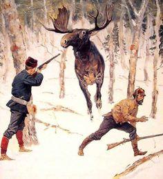 Фредерик Ремингтон, Охота на лося