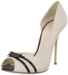 Amazon.com: Casadei Women's 8064 Leather Peeptoe D'Orsay: Shoes