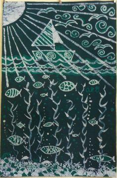 Yoruba Batik Ocean